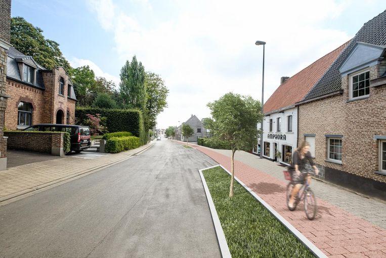 De heraanleg van de Bellegemsestraat zou 5,2 miljoen euro kosten.