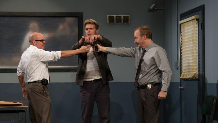 David Cross (l), Jay Johnston (m) en Bob Odenkirk (r) in With Bob and David. Beeld Netflix