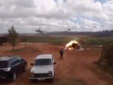Helikopter schiet per ongeluk op journalisten in Rusland