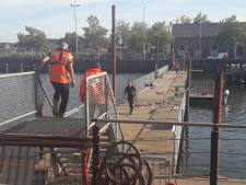 Pontonbrug bij station Middelburg twee dagen dicht