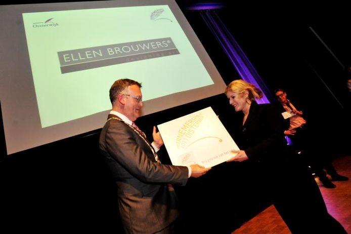 In Tiliander kreeg Ellen Brouwers de Oisterwijkse Ondernemersprijs.