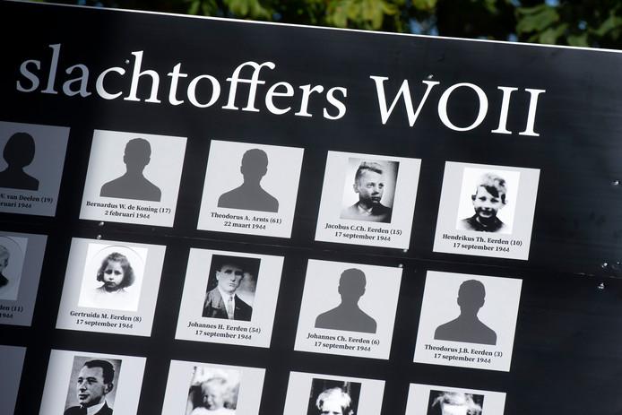 Namen en foto's van Huissenaren die in de Tweede Wereldoorlog zijn omgekomen. Foto: Gerard Burgers.