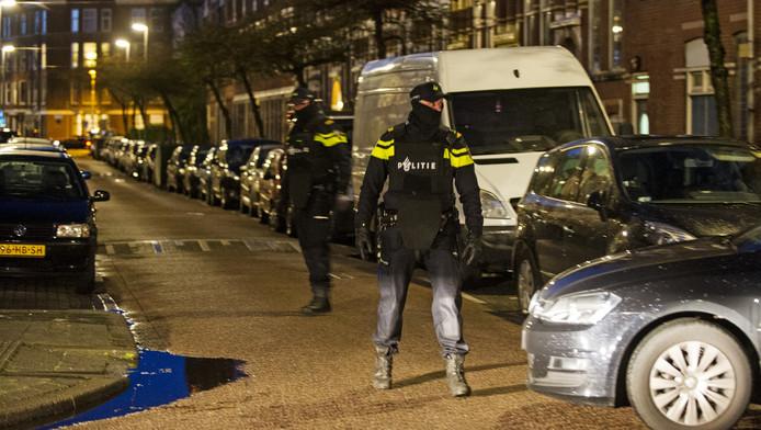 Beeld van de anti-terreuractie in Rotterdam