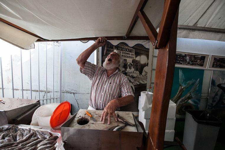 Guido Meersschaut verkoopt eindelijk weer vis.
