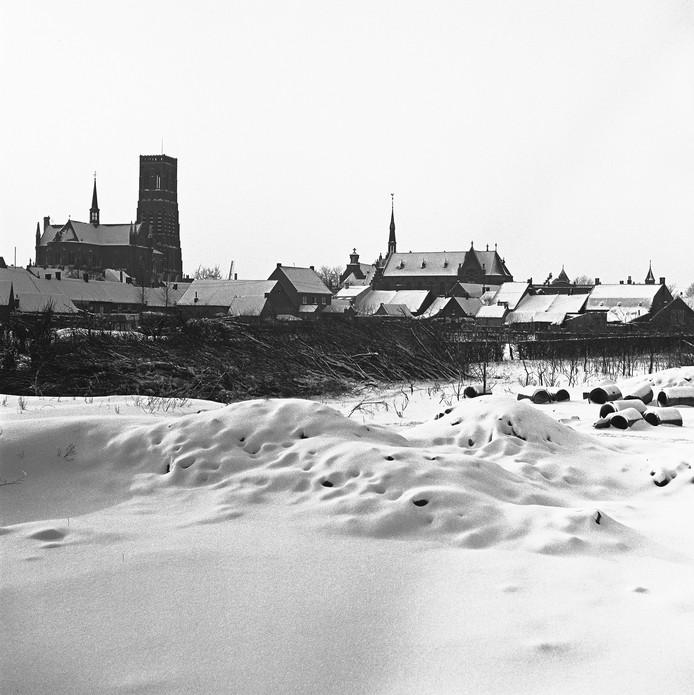 Oss, gezien vanaf de Eikenboomgaard, 27 januari 1942.