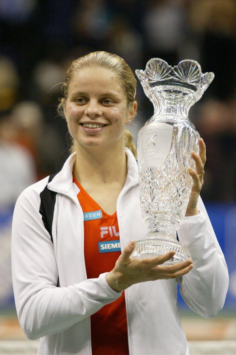 Kim Clijsters won in 2002 voor het eerst de Masters.