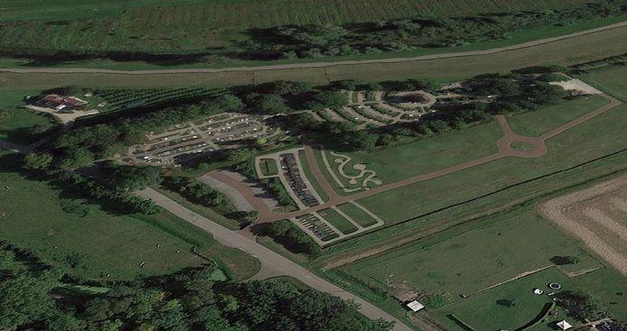 De begraafplaats aan de Dwarssteeg in Brakel is een paar jaar geleden fors uitgebreid.