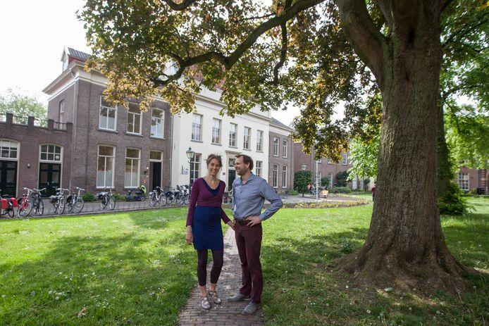 Exploitanten Gijs Peteroff en Ilse Hartman bij Huize Borro in Zutphen.