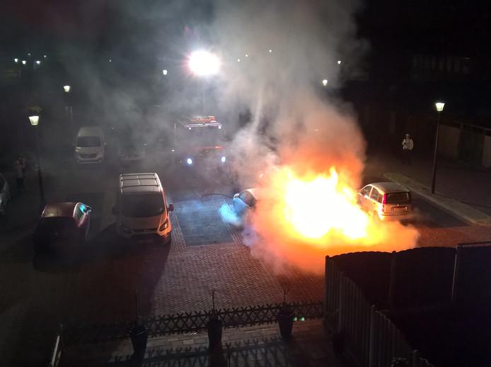 Autobrand in Culemborg.
