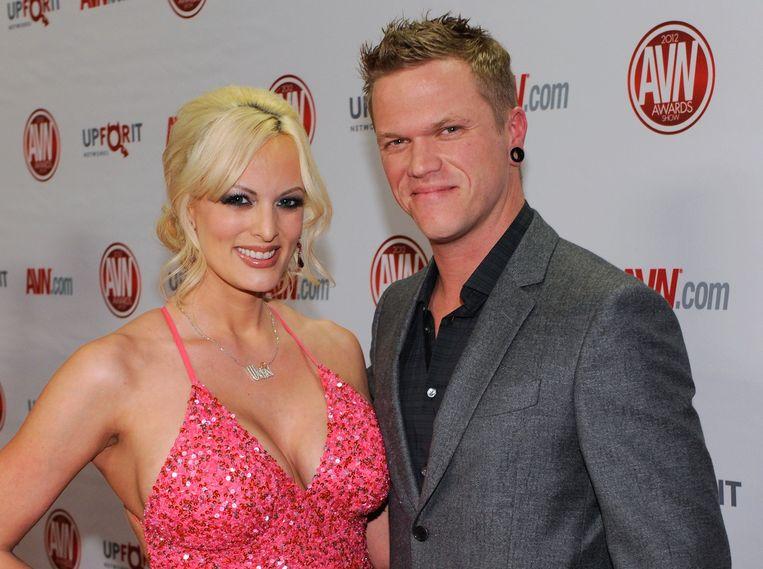 Stormy Daniels met haar toenmalige man Brendon Miller in 2012.