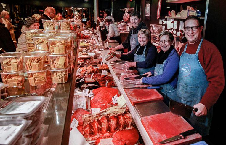 De slagerij doet in de drukke periode een beroep op vier vaste flexi-jobbers