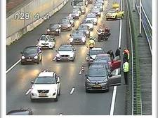 File op A28 van Amersfoort naar Utrecht na meerdere ongelukken