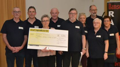 VtbKultuur Zottegem schenkt 1.200 euro aan Kinderkankerfonds