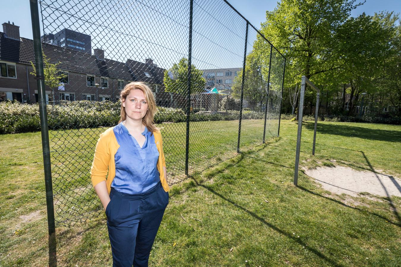Bernice Kamphuis had vergevorderde plannen voor een minibosje in de wijk Hemelrijken.
