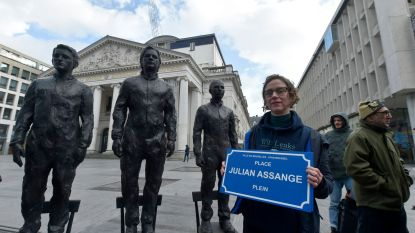 Muntplein wordt even 'Julian Assangeplein'