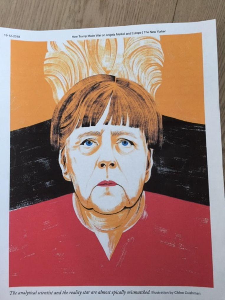 Merkel, tekening in The New Yorker. Beeld RV