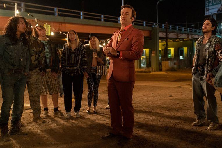 Daar is hij dan: advocaat Saul Goodman, de voormalige Jimmy McGill.  Beeld Warrick Page/AMC, via Sony Pictures Television