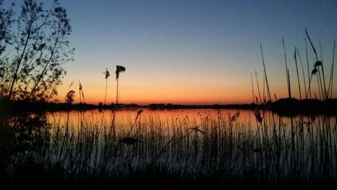 Het Engelermeer bij zonsondergang