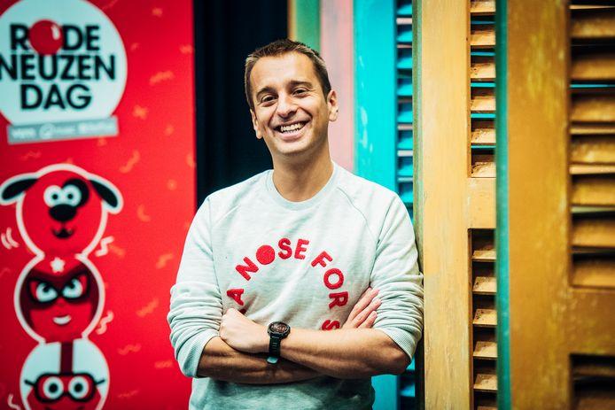 Nieuwe Rode Neuzen Dag op 29 november 2019 zet in op mentale, fysieke & sociale weerbaarheid bij jongeren en wil van zoveel mogelijk scholen een Rode Neuzen School maken. Dit werd op dinsdag 7 mei 2019 verteld op het eerste Rode Neuzen Lab, georganiseerd voor scholen. Op de foto: Sam De Bruyn.