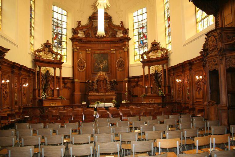 Het interieur van de Sint-Rochuskapel