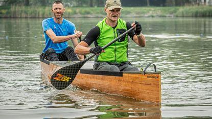 """Vrienden doorkruisen Nederland in zelfgebouwde kano: """"Zeven dagen lang elke dag 10 tot 12 uur peddelen"""""""
