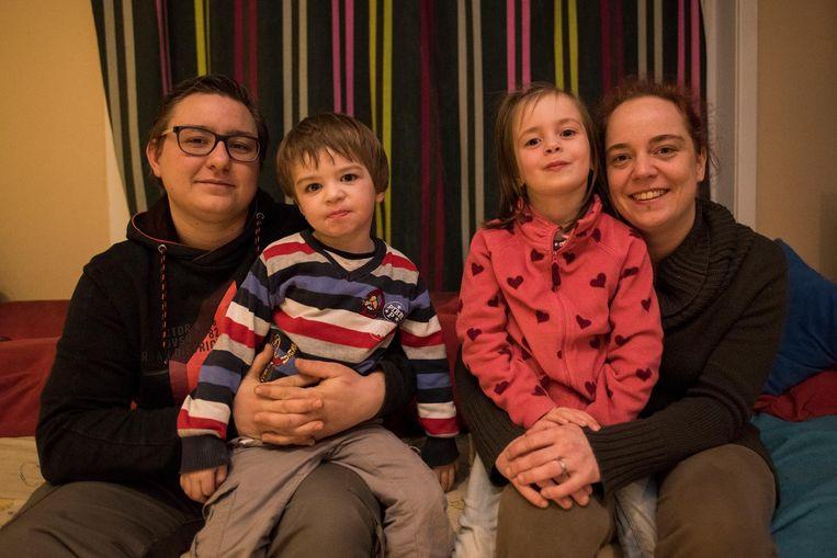 Liza Barbry, Mathieu Barbry, Axelle Barbry en Juliette Ruckebusch.