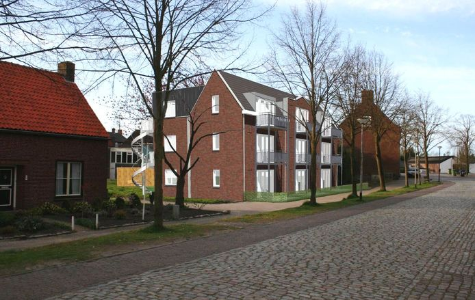 Zo wordt het Weike van Bus in de Brugstraat in Stampersgat bebouwd.
