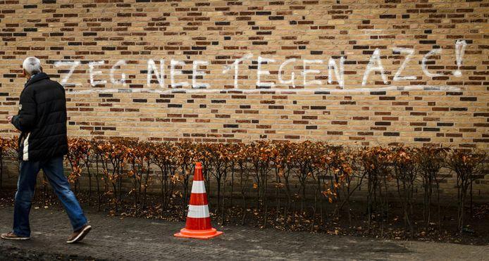Een bekladde muur in Geldermalsen