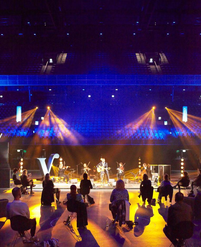 Danny Vera op zaterdag 6 juni 2020 in de Ziggo Dome Amsterdam. Beeld Daniel Cohen