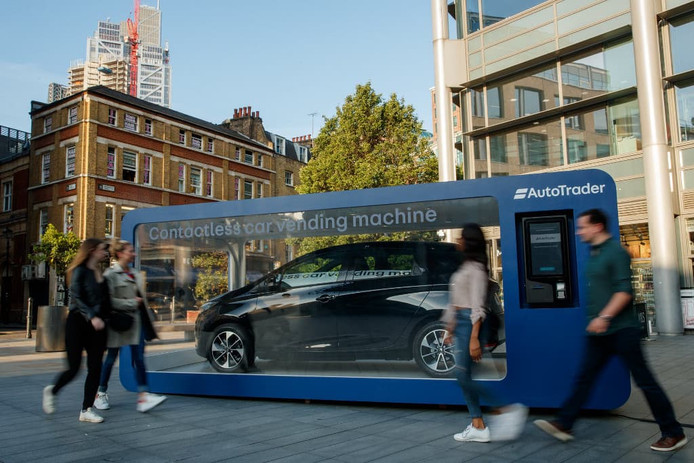 Auto-automaat in Londen