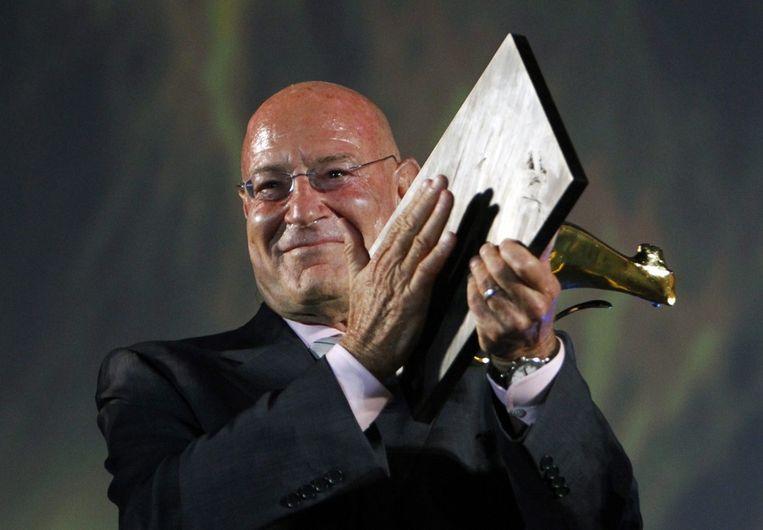 Arnon Milchan wint in 2012 de prijs voor beste onafhankelijke producer op het Locarno International Film Festival Beeld epa