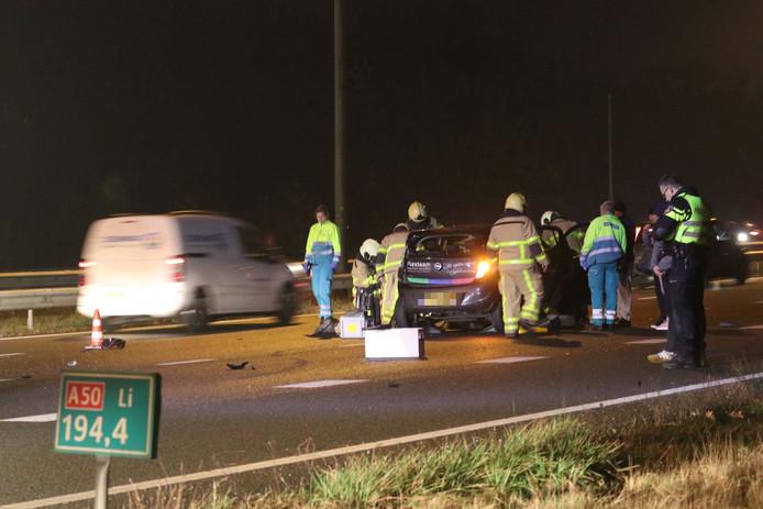 Ongevalsfile op A50 slinkt: nog maar paar minuten vertraging.