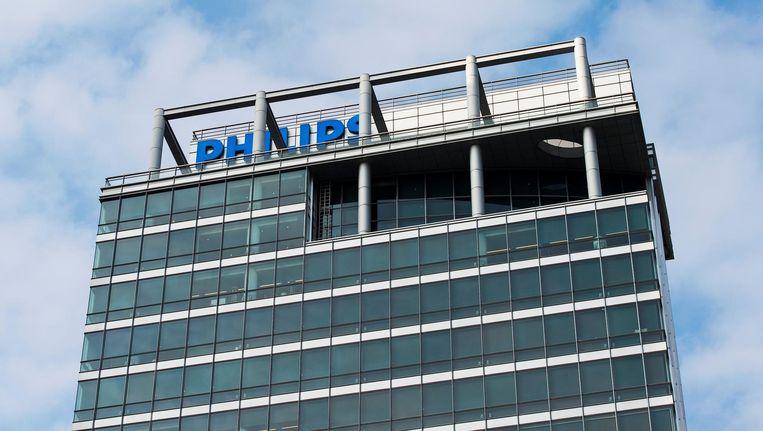 Exterieur van het hoofdkantoor van Philips in Amsterdam. Beeld anp