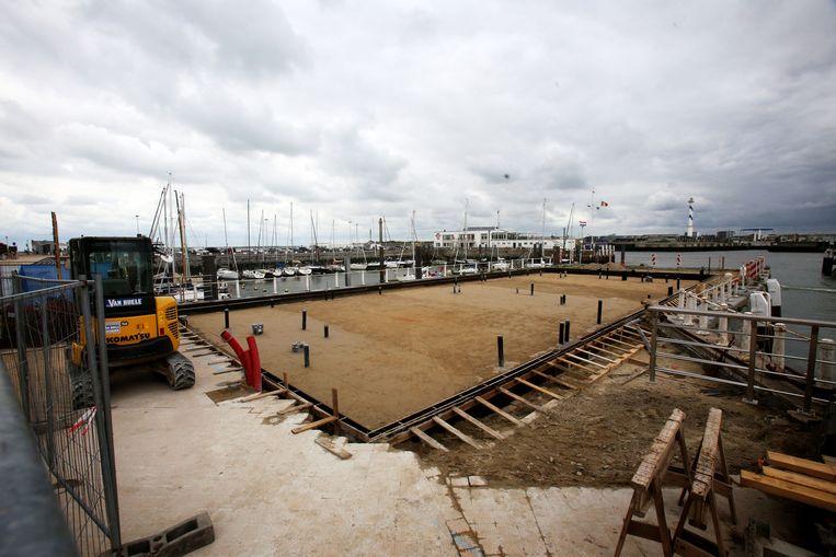 De werken aan de nieuwe Vistrap vlotten, tot opluchting van de vissers.