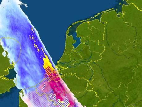 Sneeuwfront meldt zich in Zeeland (en trekt vannacht over Oost-Nederland)