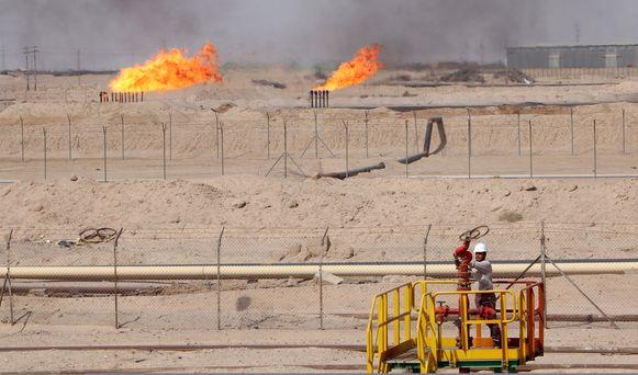Een olieveld in Irak.