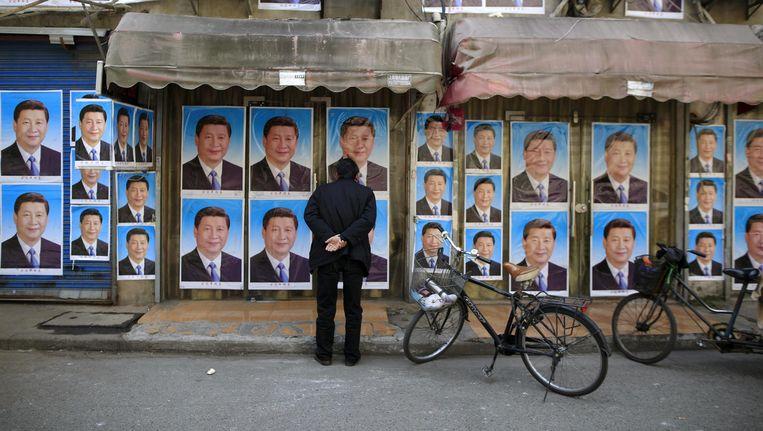 Overal Xi is in China alomtegenwoordig, dus ook op de billboards. Beeld null
