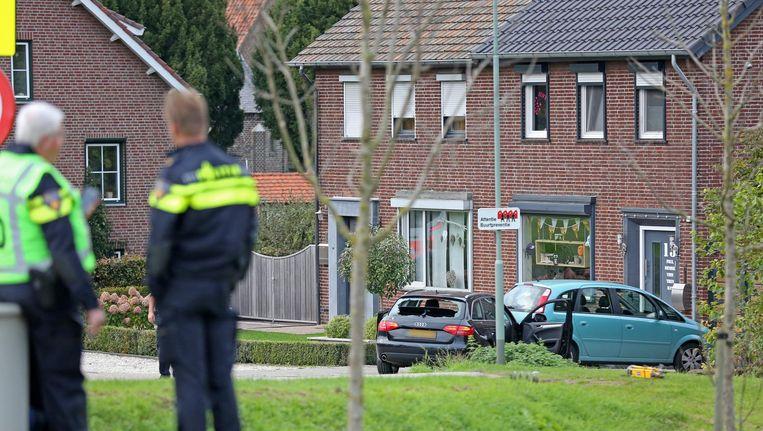 Onderzoek op de lokatie waar woensdag een verdachte door de politie is doodgeschoten. Beeld anp
