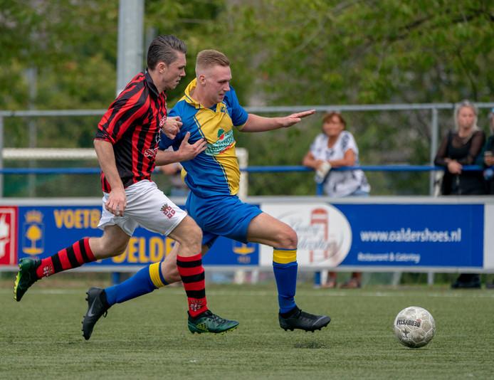 Beeld uit de derby Delden - GFC van zondag 9 september (1-1).