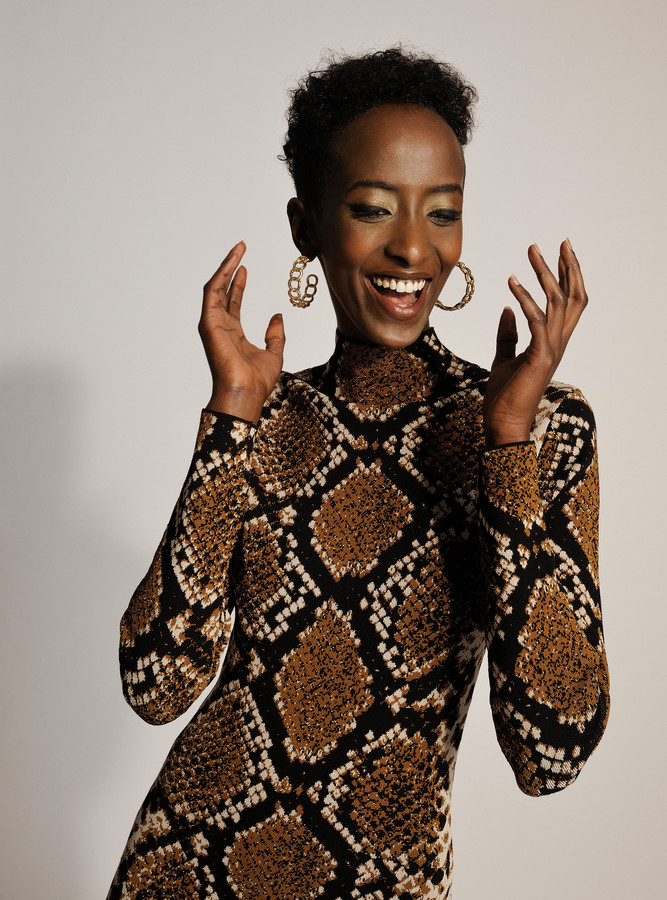 2018 HONGARIJE Rea Milla een somalische vluchteling en nu een topmodel Model Kafia Mahdi aka Rea Milla