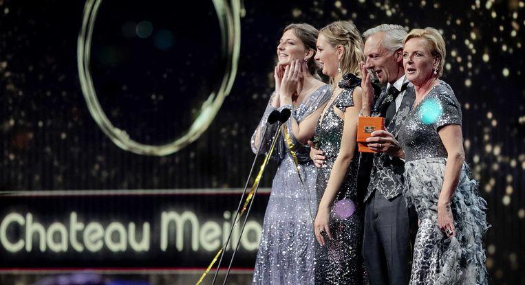 Martien, Erica, Maxime en Montana Meiland van het programma Chateau Meiland (SBS 6), winnaar van de Gouden Televizier-Ring 2019 Beeld null