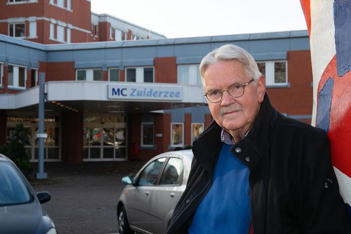 Voorzitter Cees de Bruin van de cliëntenraad van de MC IJsselmeerziekenhuizen.