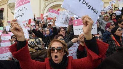 Ouders van leerlingen betogen in Tunis tegen stakende leerkrachten
