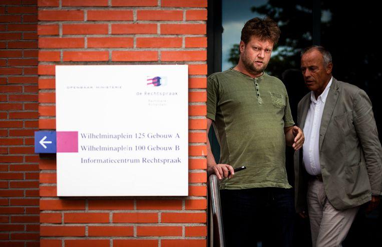 Arjan Greeven voor de rechtbank in Rotterdam tijdens een schorsing van de Vestia zaak. Beeld Freek van den Bergh / de Volkskrant