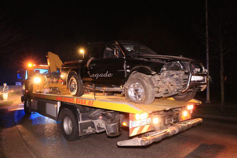 Zaterdagavond gebeurde er opnieuw een ongeval toen een terreinwagen inreed op de betonblokken.