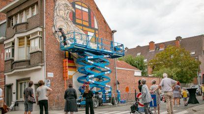 """Street artist Dzia kleurt metershoge gevel: """"En dit is nog maar het begin"""""""