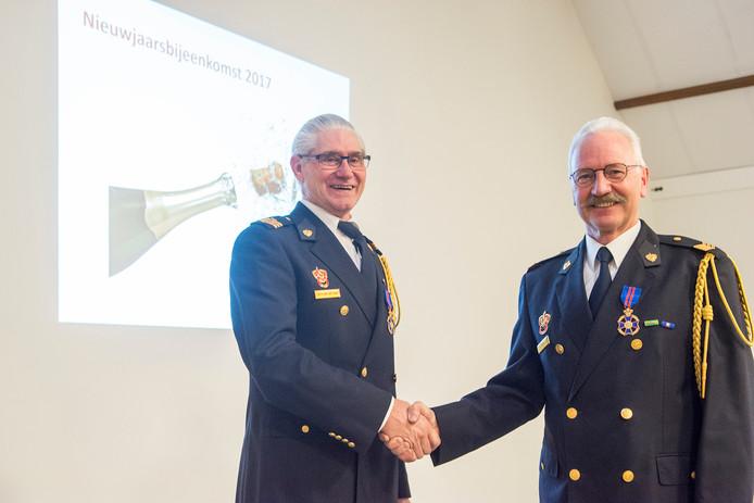 Brandweermannen Hans van der Haar en Gerard Koekman