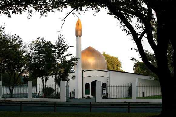 De Masjid Al Noor-moskee aan Deans Avenue in Christchurch, New Zealand (archief).