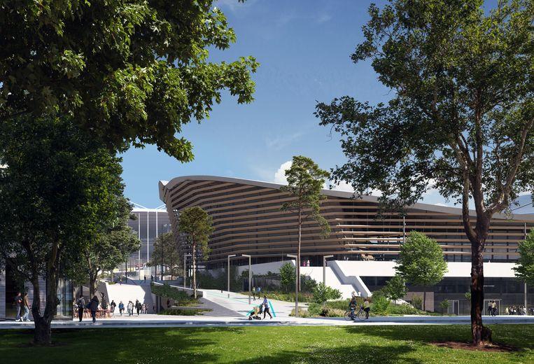 Zwemstadion voor Parijs 2024 - Architect: VenhoevenCS & Ateliers Beeld Proloog