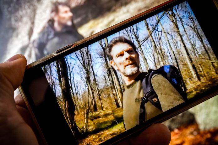 ILLUSTRATIEF - Een YouTubefilmpje op het kanaal van de 55-jarige Jos Brech, de voortvluchtige moordverdachte van Nicky Verstappen. ANP ROB ENGELAAR